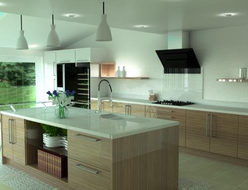 BA ZURFIZ High Gloss Noce Marino & Ultragloss White Kitchen – For our Edingley Client